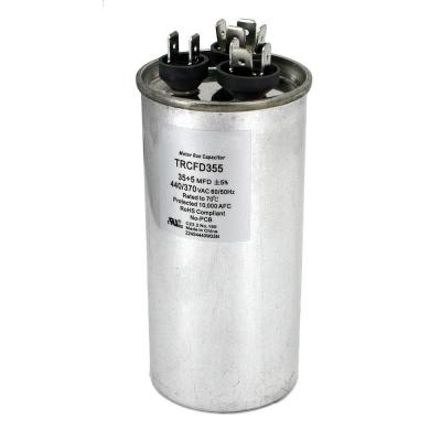 Packard 440-Volt 35/5 MFD Dual Rated Motor Run Round Capacitor